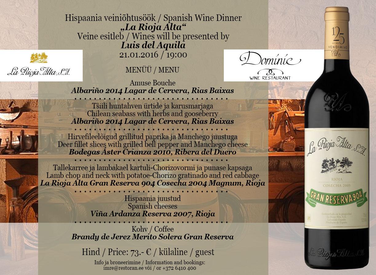 La Rioja Alta Dinner